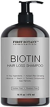 Hair Regrowth and Anti Hair Loss Shampoo 16 fl oz with 14 DHT blockers- Daily Hydrating Detoxifying Volumizing Shampoo For Men and Women