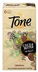 COCOA BUTTER BAR SOAP. Tone's 4.25oz Cocoa Butter Bath Bar Soap brings one of nature's most hydrating elixirs directly to your household shower. This bundle pack comes in a pack of 12 for never ending moisture. RICH + CREAMY. With its tropical and mo...