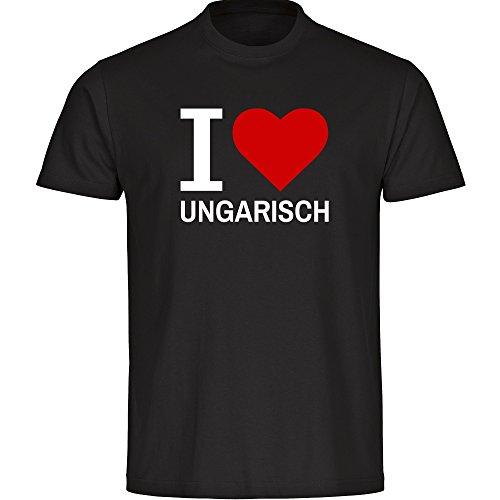 Herren T-Shirt Classic I Love Ungarisch - schwarz - Größe S bis 5XL, Größe:XXXXL