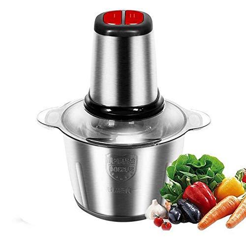 YYBF Edelstahl-Fleischwolf Chopper Elektro-Automatik Mincing Küchenmaschine Fleischwolf 2L Prozessor