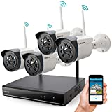 Wireless Security Camera System Outdoor, ONWOTE 1080P HD NVR 4 960P HD 1.3MP Night Vision IP Security...