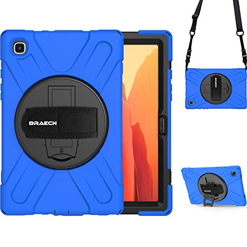 "BRAECN Samsung Galaxy Tab A7 10.4 2020 Case, Heavy Duty Shockproof Kids Friendly Case with Shoulder Strap, Adjustable Hand Strap, Kickstand for Samsung Tab A7 10.4"" 2020 SM-T500 SM-T505 SM-T507-Blue"