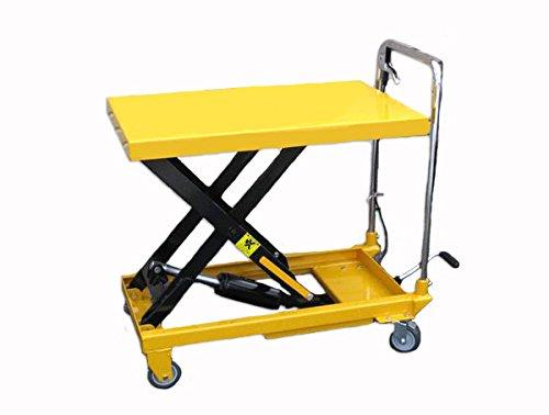 油圧式リフトテーブル台車積載能力150kg(黄色)