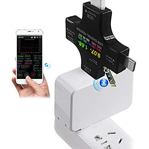 USB-Typ-C Sicherheitstester, USB-C-Messgerät, USB-Voltmeter, Tester Typ C, USB-Multimeter, Stromkapazität, AMP Ladegerät, Power Current Meter PD Tester
