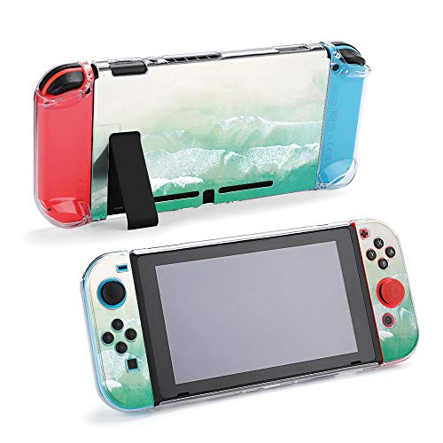 SUPNON Aerial Drone Shot of Turquoise Sea Water at Protective Case Compatible with Nintendo Switch Soft Slim Grip Cover Shell for Console & Joy-Con with Screen Protector, Thumb Grips Design36409