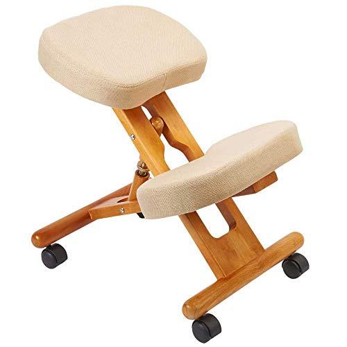 Archimede F2902F - Silla ergonómica ortopédica con estructura de madera y asientos acolchados para una correcta postura de hombros y cuello contra dolores de espalda para estudio, oficina, casa