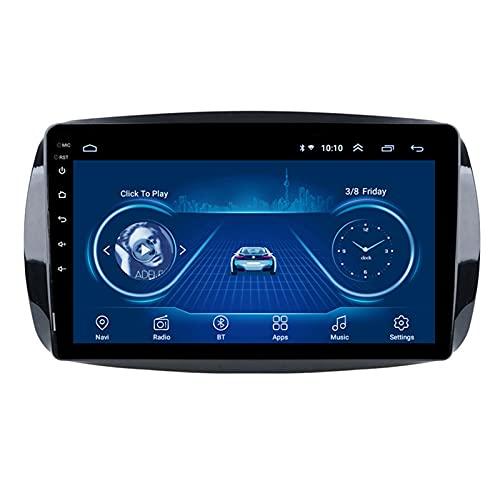 Autoradio Android Car Stereo Car Radio Receptor Navegación GPS - Aplicable para Mercedes Benz Smart Fortwo 2016-2018, Pantalla táctil de 9 Pulgadas, Control del Volante,8core-WiFi: 4+64G