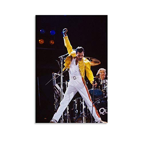 Queen Freddie Mercury Wallpaper Cover Canvas Art Poster and Wall Art Picture Print Modern Family Bedroom Decor Posters 24x36inch(60x90cm)