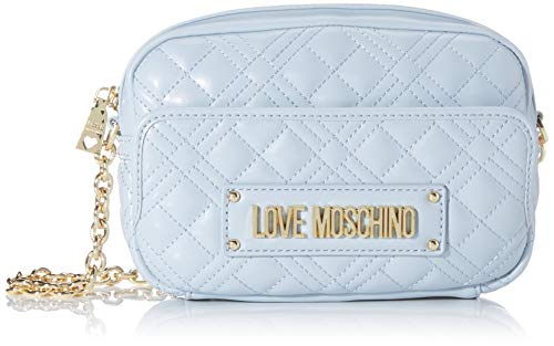 Love Moschino Jc4002pp1a, Bolsa de mensajero para Mujer, Azul (Nuvola), 6x14x22 centimeters (W x H x L)