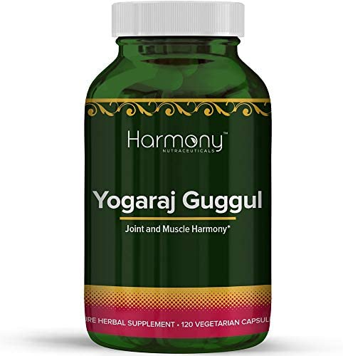 Harmony Nutraceuticals Yogaraj Guggulu Organic 120 Capsules Ayurvedic Herbs for Pain in The product image