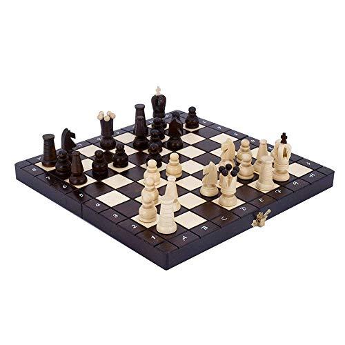 Juego de ajedrez Juego de ajedrez de Madera, Juego de Mesa de Madera Grande Hecho a Mano para niños y Adultos