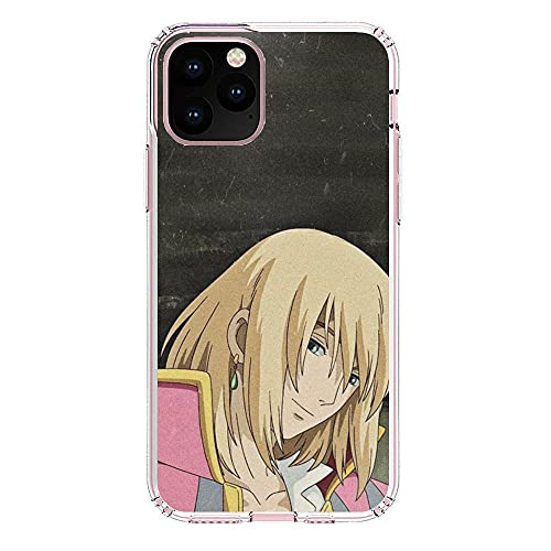 K-Kickim Clear Case for Apple iPhone 11 Pro MAX, Sophie-Howls Moving-Castle 3 Soft Thin Coque Silikon Rubber Shockproof