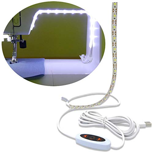 Madam Sew Sew Bright Sewing Machine LED Lighting Strip Dimmable Self-Adhesive USB Sewing Machine...
