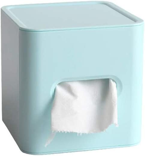 GPPZM Light Blue Tissue Box - Product Cube Tray W excellence Simple Roll Creative