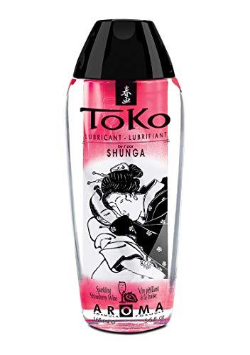 Shunga Toko Lubricante, Aroma de Fresas con Champagne, Transparente - 165 ml