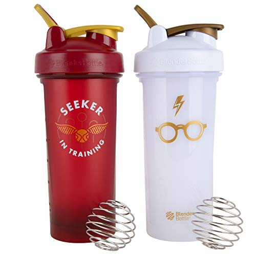 Harry Potter BlenderBottle Shaker Bottle, 28 oz, 2-Pack - Seeker In Training and Harry Potter Glasses