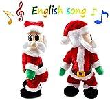 Twisted Wiggle Hip Twerking Shaking Hips Santa Claus Singing Electric Toy for Kids English Song