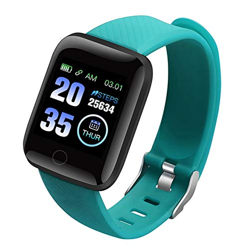 1,3' Reloj de actividad física con pantalla táctil a color | Reloj de Fitness | Pulsera de actividad con podómetro reloj inteligente con cámara resistente agua para Android/iOS