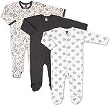 The Peanutshell Safari 3 Pack Sleeper Set for Baby Boys (Newborn) Black