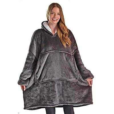 Blanket Sweatshirt, Oversized Sherpa Blanket Hoodie, Soft, Comfy, Warm, Wearable Blanket for Adults, Women, Men, Teens,