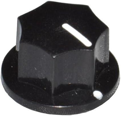 DIYPedalGearParts® 3 x Knob MXR clone black, stomp box pedal effect