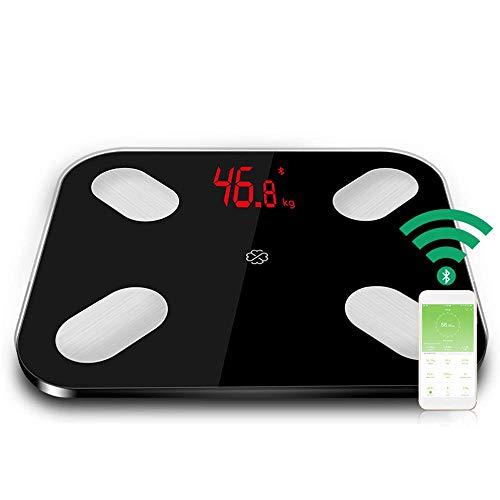 DBSCD Bluetooth-Gesundheitsmonitor für intelligente Körperfettwaage Genaue Gewichtsmessungen mit LED-Anzeige, hochpräzisen Sensoren 4, automatisches Einschalten beim Erfassen des Gewichts