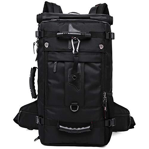 kaka Travel Backpack Outdoor Backpacks Large Capacity Waterproof Duffel Backpack Multi-function Hiking Daypack Laptop Backpack 40L (Black)