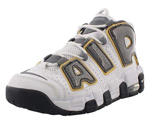 Nike Air More Uptempo - Scarpe da ginnastica da ragazzo, colore: Bianco/Grigio, bianco, 36 EU