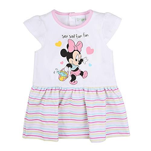 Disney Bebé, recién Nacido niñas Minnie Mouse Vestido, Blanco, Talla 68, 6 Meses