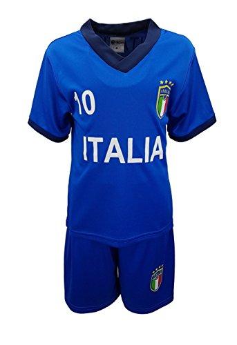 Unbekannt Fussball Fan Set Italien Italia Trikot + Shorts in Blau, Gr. 128/134, JSn77b.10
