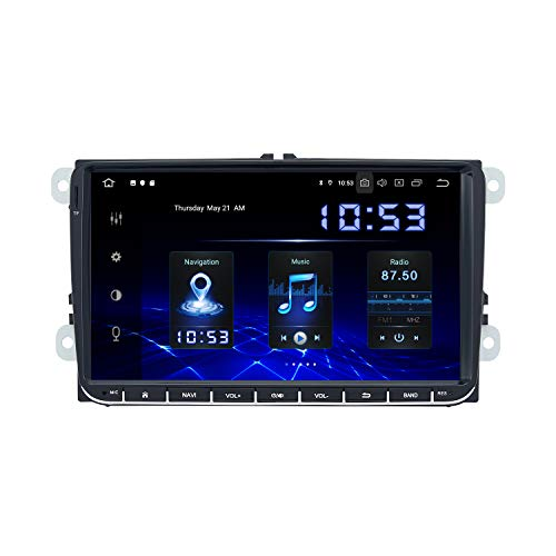 Dasaita 9' Android 9.0 2 DIN Autoradio Bluetooth Coche Integrado DSP 4G RAM 64G ROM para VW Passat 2006 a 2011 Polo 2010 2011 Golf 2003 a 2011 Radio Coche USB Soporte WiFi Dab+ Carplay FM/Am GPS