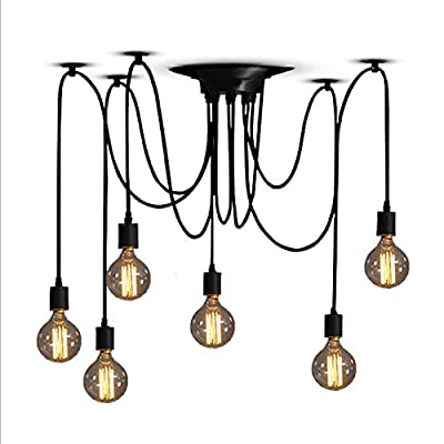ZHMA Ceiling Spider Lamp Light Pendant Lighting, Antique Classic Adjustable DIY Lighting Chandelier Modern
