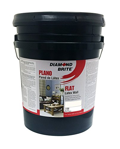 Diamond Brite Paint 11200 5-Gallon Flat Latex Paint Off White