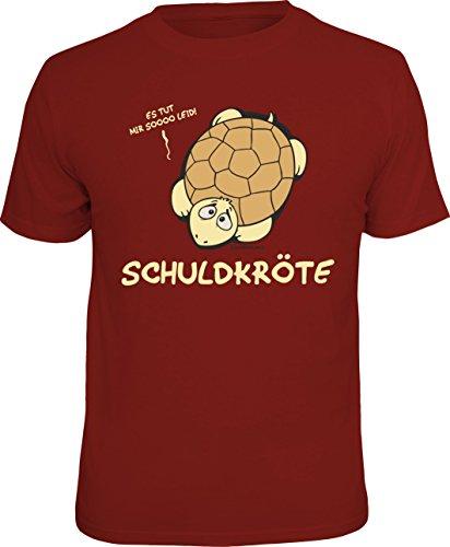 T-Shirt zur Entschuldigung: Schuldkröte - es TUT Mir sooo leid! Größe XL