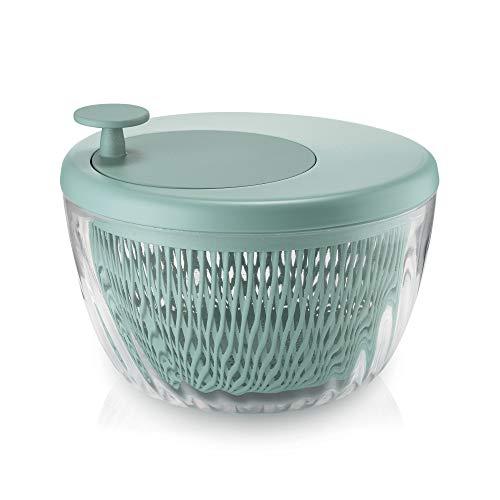 Guzzini . Centrifuga Insalata 26 cm Verde Spin&Store Insalatiera Trasparente