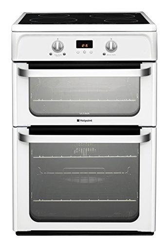 Hotpoint HUI612P Ultima 60cm doble horno cocina eléctrica con placa de inducción, color blanco