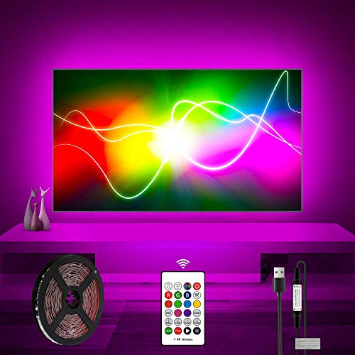 TV Lights Behind 50 55 Inch Television LED Bias Lighting For HDTV USB Powered Color Changing With Remote Control TV Backlight Kit
