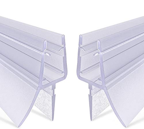.one-bath Junta de ducha prémium 2 x 80 cm, junta universal para puerta de cristal para 6 mm, 7 mm o 8 mm de grosor, impermeable