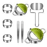 Best Empanada Makers - SYOSIN 8 Pieces Stainless Steel Dumplings Maker Set,Dumpling Review