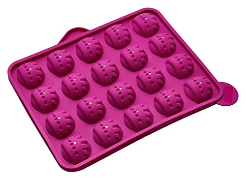 Lurch Shopping Queen FlexiForm Cake Pops Krone 20fach, Silikon, pink, 0.1x0.1x0.1 cm