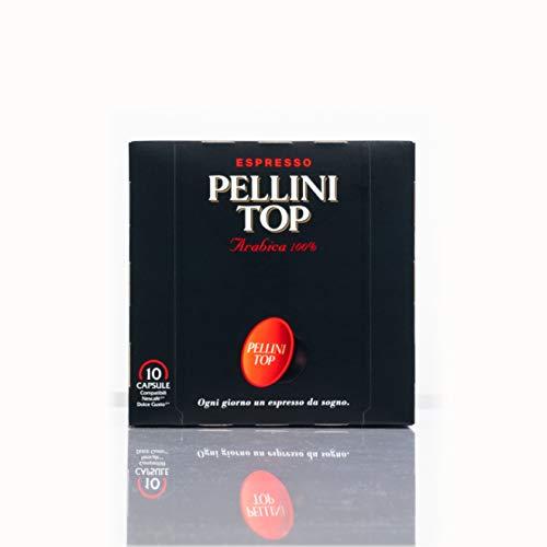 Pellini Caffè - Espresso Pellini TOP (6 Astucci da 10 Capsule, Totale 60 Capsule), Compatibili Nescafé Dolce Gusto