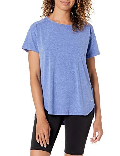 Amazon Essentials Studio Relaxed-Fit Lightweight Crewneck T-Shirt fashion-t-shirts, Bright Blue Heather, US S (EU S - M)