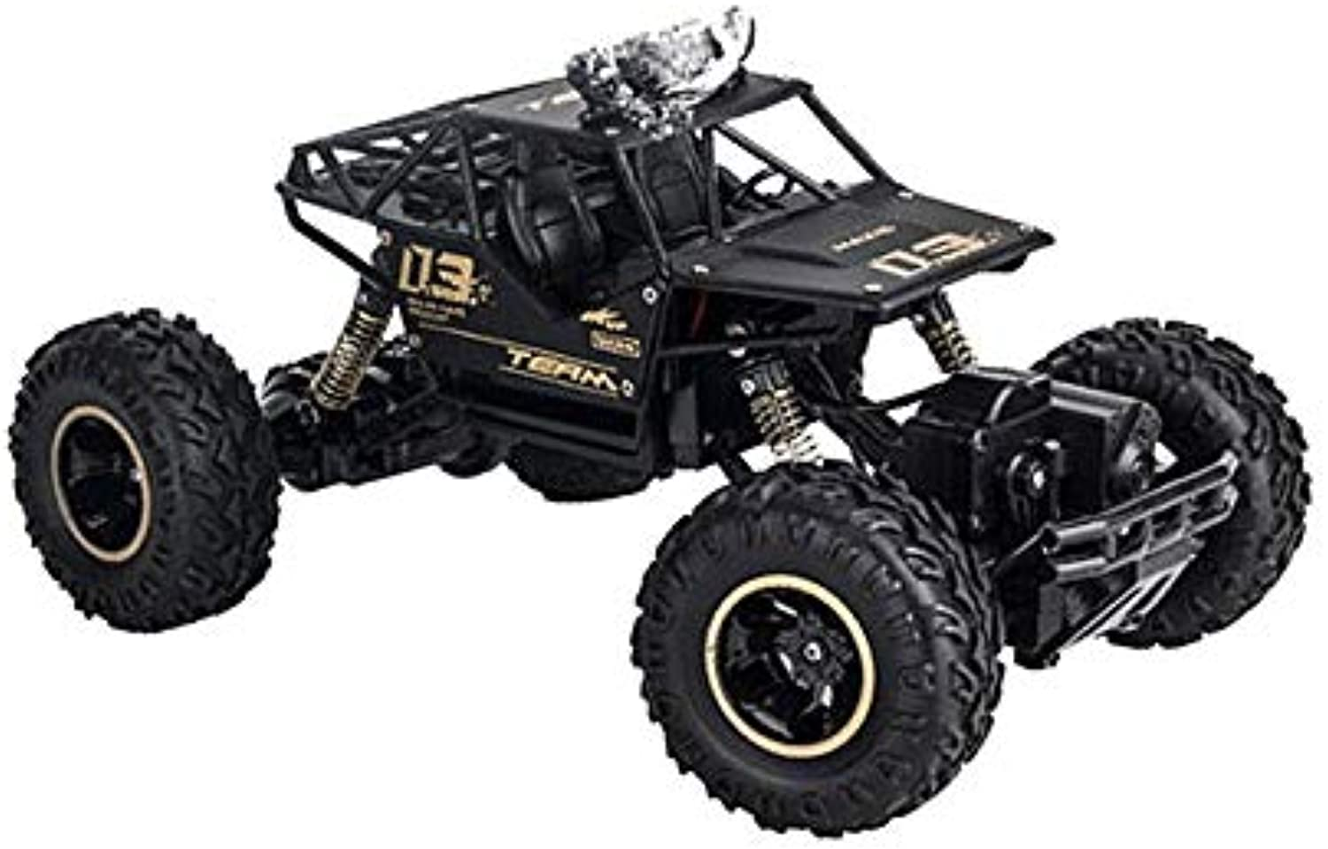 Generic RC Car 1 16 4WD Rock Crawlers Driving Car Double Motors Bigfoot RC Car Four Way Remote Control RC Car Off Road Vehicle Toy 116 26cm Black