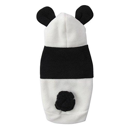 Halloween Haustier Kostüm Cartoon Panda Cosplay Lion Hunde Bekleidung Welpen Katze Mantel Kleidung Jumpsuit schwarz-weiss XS/S/M/L/XL