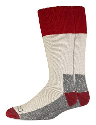 Dickies Men's 2 Pack High Bulk Acrylic Thermal Boot Crew Socks, Red, Shoe Size: 6-12