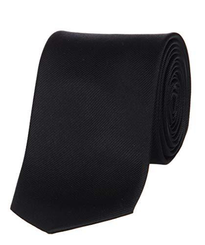 OLYMP Krawatte slim aus reiner Seide mit Nano-Effekt schwarz