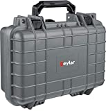Eylar Tactical Hard Gun Case Water & Shock Proof with Foam TSA Approved 11.6 Inch 8.3 Inch 3.8 Inch (Gray)