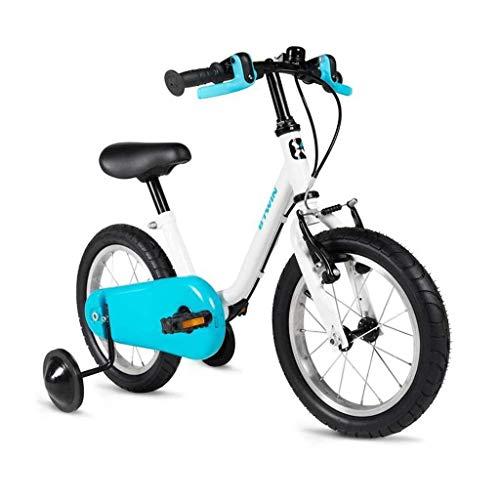 YHtech Bicicleta de los niños 1-3 años niño y la niña Azul Bicicleta Bicicletas 14 Pulgadas Triciclo Niños del Regalo de los niños (Color: Azul, Tamaño: 14 Pulgadas)