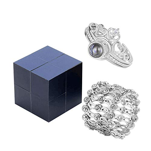Dalang A Full Set Creative Ring, Bracelet and Puzzle Jewelry Box Including A Movable Ring and Versatile Bracelet Telescopic with Adjustable, A Gift Box (Full Set)