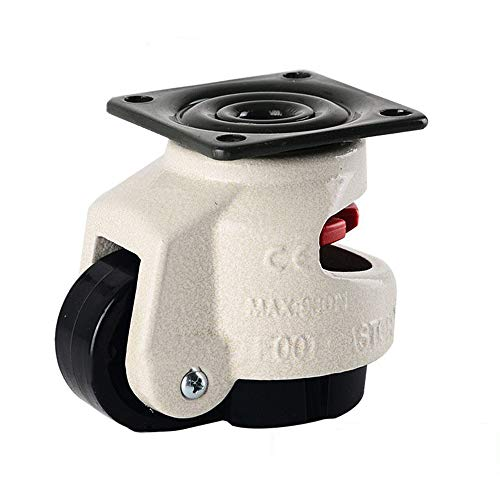 Rueda Giratoria de PU de Servicio Pesado de 2Rueda Giratoria Cargada por Resorte Capacidad de Carga de 110 lbs para Mesa de Muebles